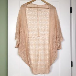 Anthropologie Moth Linen Cardigan Crochet
